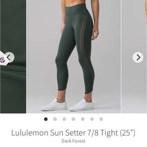 Lululemon Sun Setter 7/8 Tight